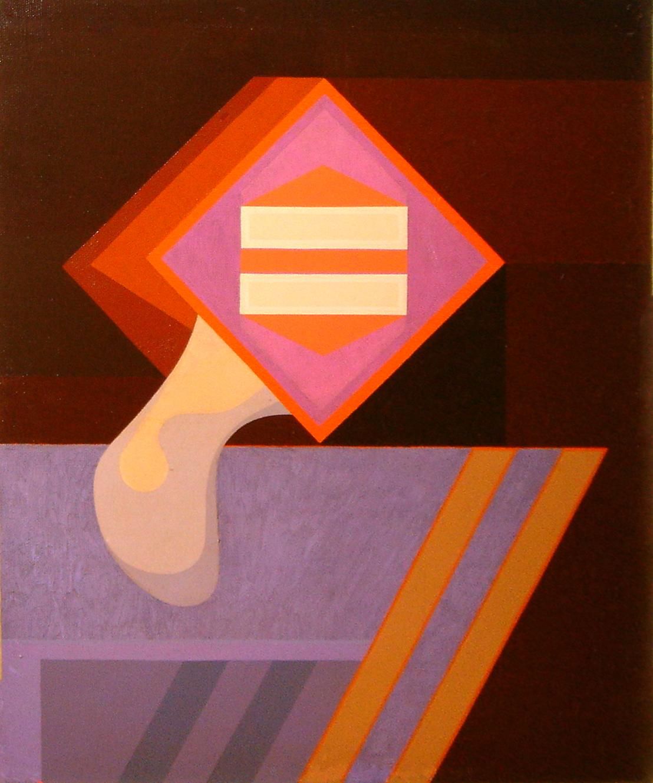 "<strong>""Geométrico Número 3"" (1977)</strong><br>Óleo sobre tela 60 x 50 cm"