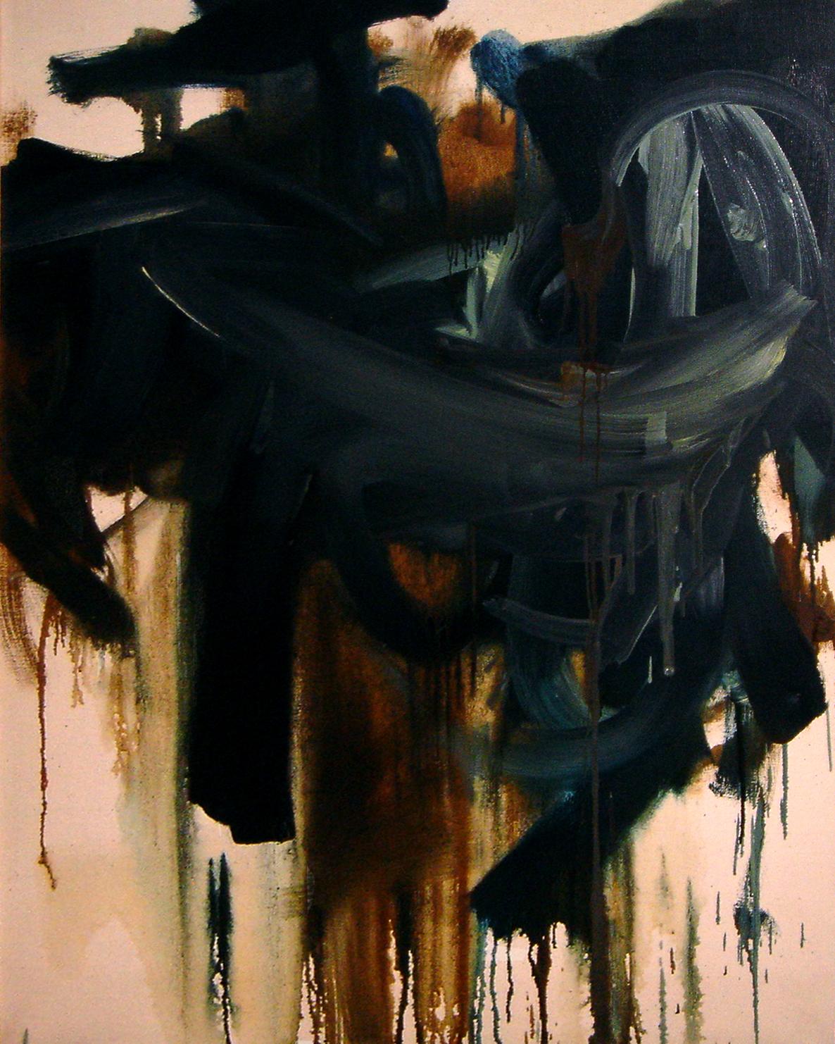 """<strong>""""Caparazón"""" (1961)</strong><br>Óleo sobre tela 100 x 80 cm"""