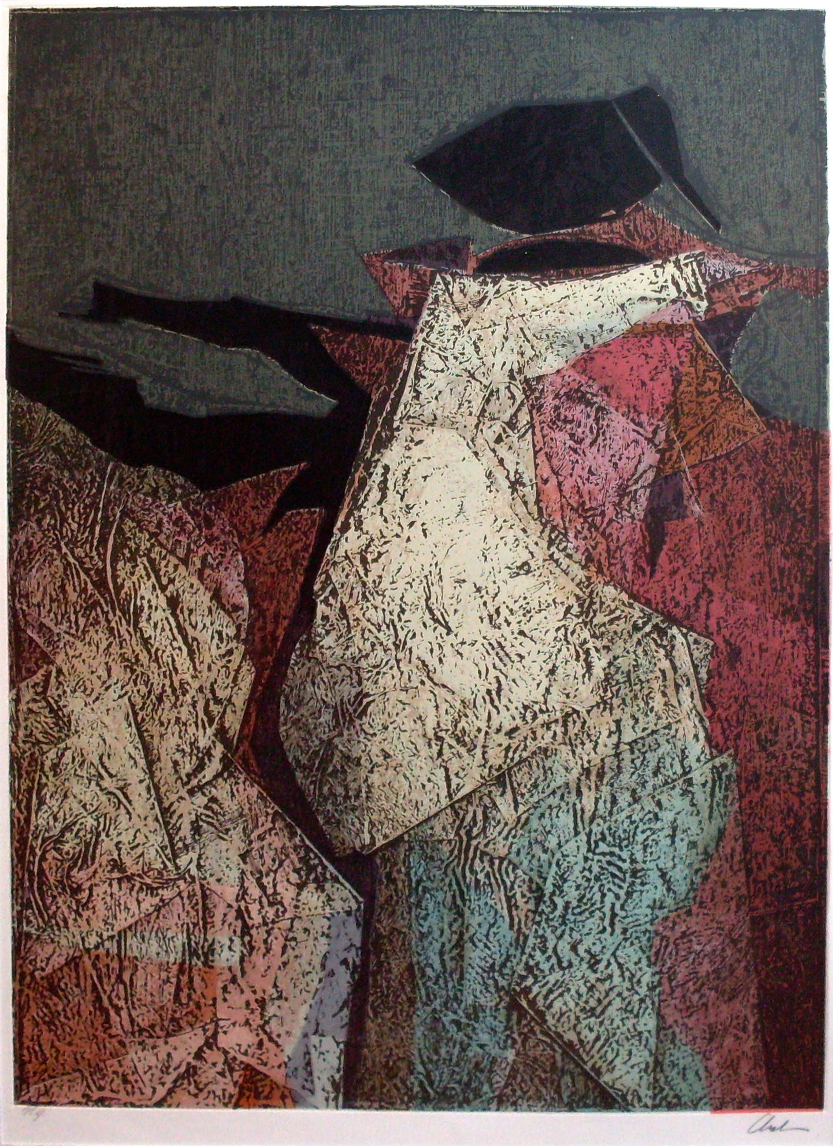 """<strong>""""Sin Título""""</strong><br>Grabado con color (P/A) 66 x 48 cm"""
