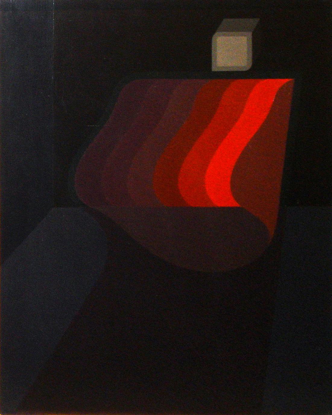 """<strong>""""Algo se mueve"""" (1973)</strong><br>Óleo sobre tela 50 x 40 cm"""