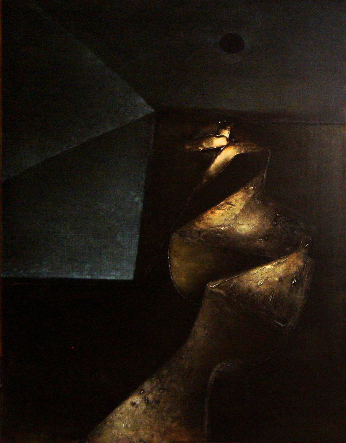 "<strong>""Grutas del cuerpo"" (1970)</strong><br>Óleo sobre tela 146 x 114 cm"
