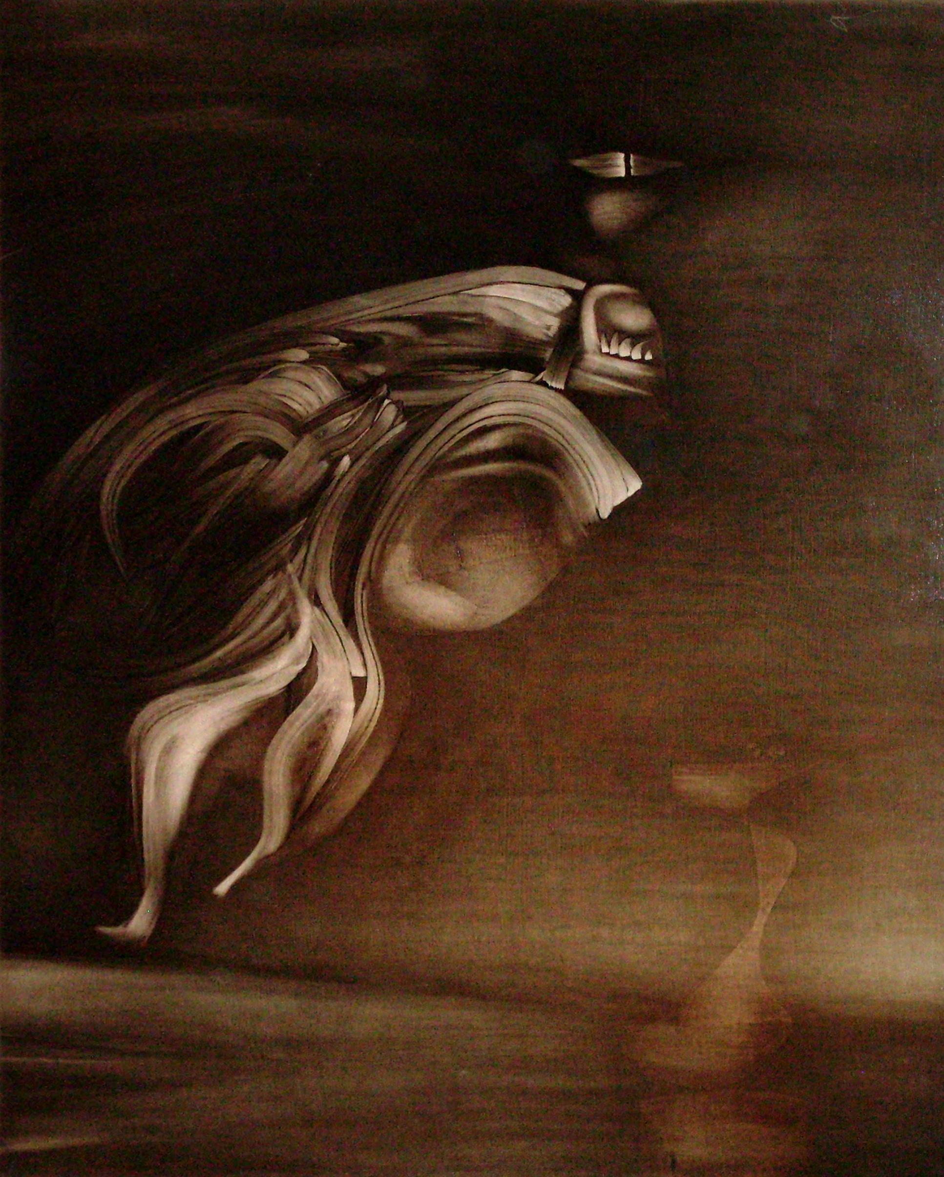 "<strong>""Sin título"" (1968)</strong><br>Collage y óleo s/tela 162 x 130 cm"