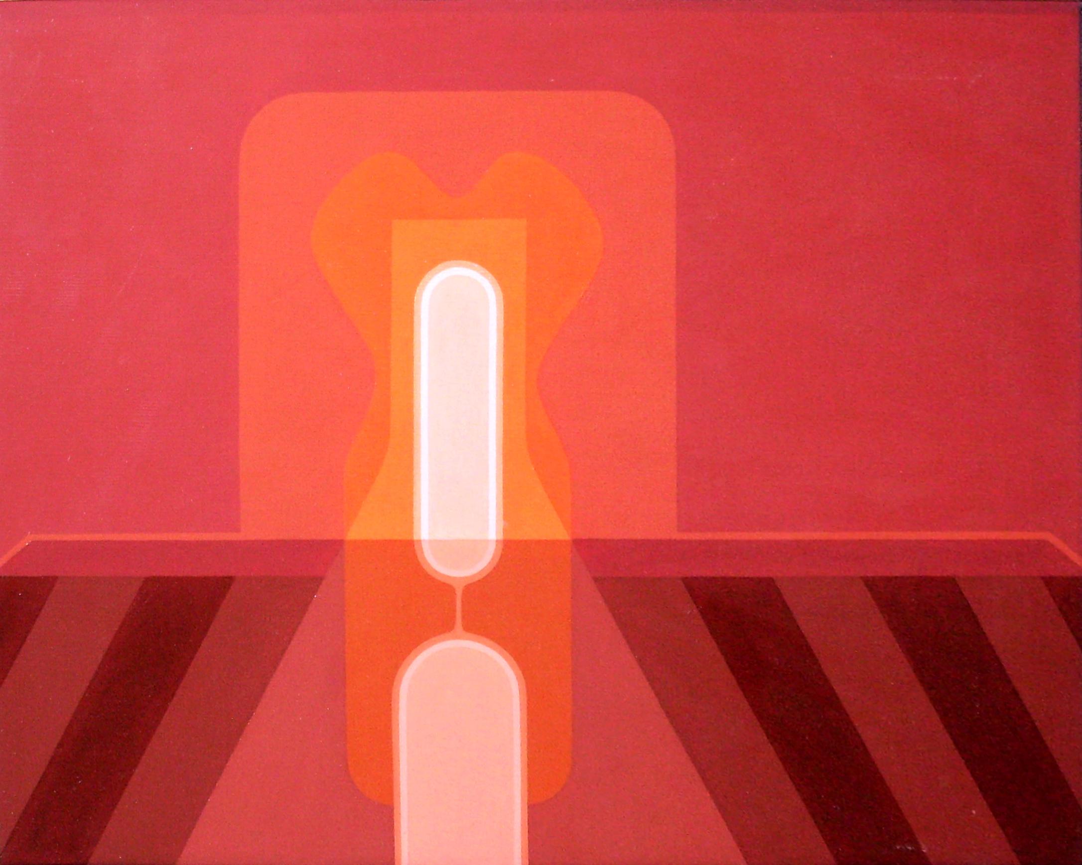 """<br><br><br><strong>""""Pre – visible"""" (1973)</strong><br>Óleo sobre tela 40 x 50 cm"""