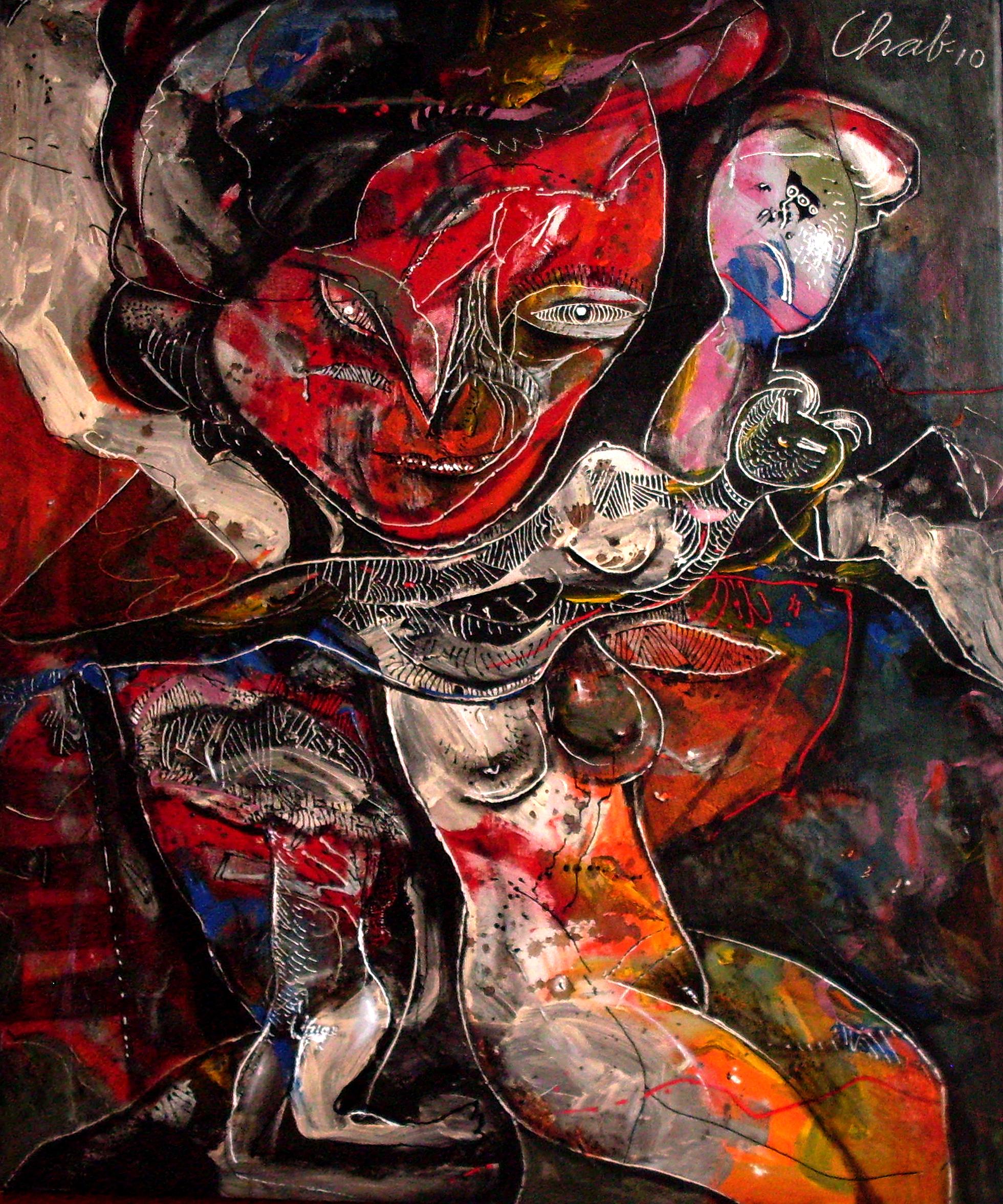 """<strong>""""Última noche"""" (2011)</strong><br>Acrílico sobre tela 120 x 100 cm"""